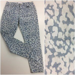 CURRENT/ELLIOTT Bleached Printed Slim Fit Jeans